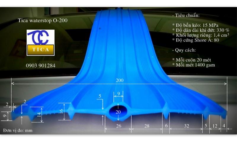 Băng cản nước pvc waterstop O200