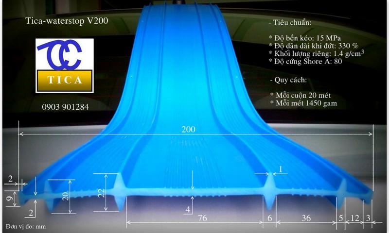 Băng cản nước pvc waterstop V200