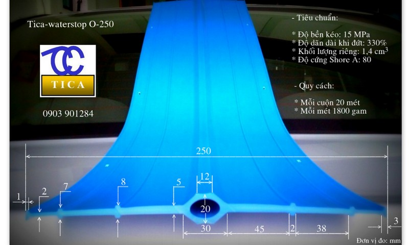 Băng cản nước pvc waterstop O250