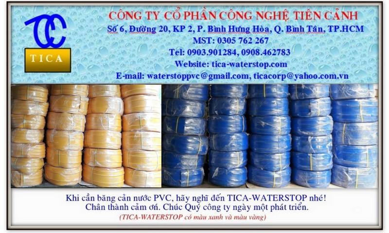 Băng cản nước pvc waterstop